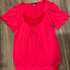 Pink Cable & Gauge short sleeve top